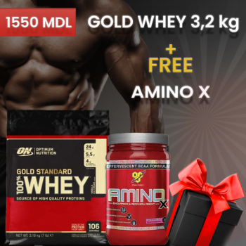 ON 100% WHEY GOLD STANDARD 3,2 KG + AMINO X в подарок