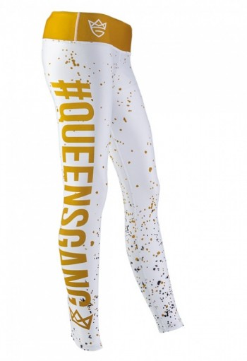 Live & Fight Leginsy WOMEN'S LEGGINGS FANCY White&Gold