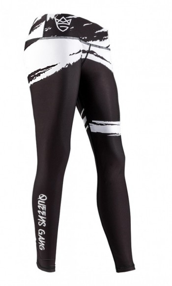 Live & Fight LEGINSY WOMEN'S LEGGINGS CLASSIC Black&White