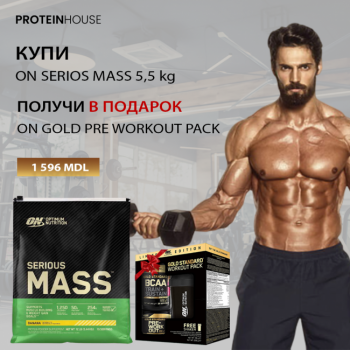 ON SERIOUS MASS 5,5 KG + WORKOUT PACK