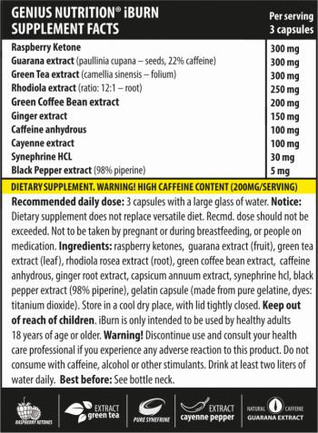 Genius Nutrition iBurn 90caps