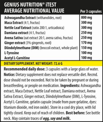 Genius Nutrition iTest 90 caps