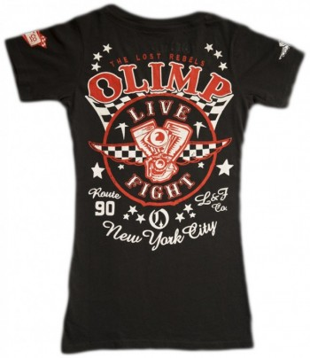 Live & Fight LOST REBELS Lady's Tee Black