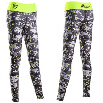 Live & Fight LEGINSY DAMSKIE - WOMEN'S LEGGINGS - DIGITAL CAMO Gray