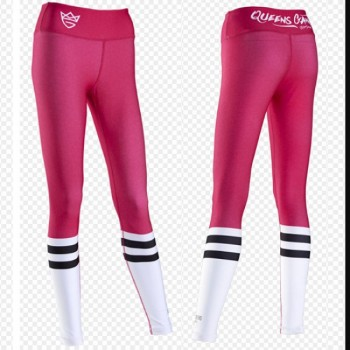 Live & Fight Leginsy WOMEN'S LEGGINGS - HIGH SOCK PINK&WHITE