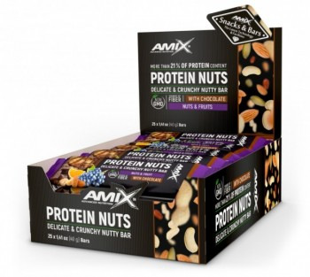 AMIX Protein Nuts Bar 25 шт x 40 gr