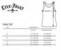 Live & Fight Women's TANK TOP WORKOUT black&white