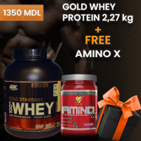 WHEY GOLD STANDARD 2,27 KG + Amino X в подарок