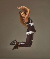 Live & Fight LEGINSY WOMEN'S LEGGINGS CLASSIC Black&White