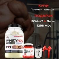 Whey X5 + BCAA + Shaker