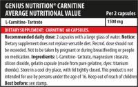 Genius Nutrition Carnitine Premium 60 caps