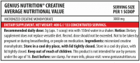 Genius Nutrition Creatine Monohydrate 400g