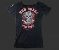 Live & Fight T-Shirt ROSE SKULL