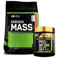 ON SERIOUS MASS 5,5 kg + PRE WORKOUT