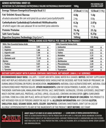 Genius Nutrition Whey-X5 2000g